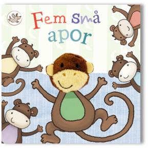 """""""""""Fem små apor"""""""" - bok med fingerdocka"""