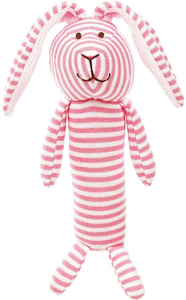 Stripes Skallra, rosa, 15cm - Teddykompaniet