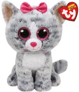 Beanie Boos Kiki (Grå Katt) TY Gosedjur | Nalleriet.se