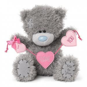 Nalle med rosa hjärtbanner I Love You, 25cm - Me To You