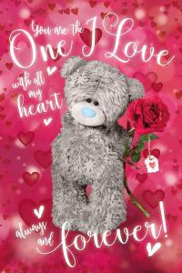 3D-Kort, Nalle med ros One I Love - Me To You