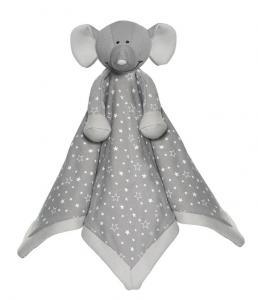 Diinglisar Organic Snuttefilt, Elefant från Teddykompaniet