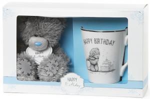 Nalle & Mugg Happy Birthday, 13cm från Me to you (Miranda nalle) säljs på Nalleriet.se