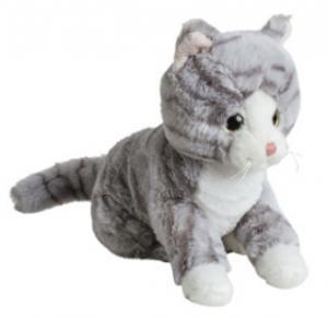 Mollis Gråspräcklig Katt, 20 cm - Molli Toys | Nalleriet.se