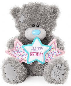 Nalle, Happy Birthday på stjärnbanner, 25cm - Me To You