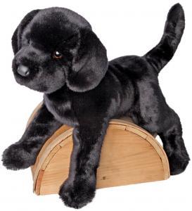 Svart Labrador, stor, mjukisdjur säljs på Nalleriet.se