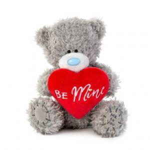 Nalle med rött hjärta Be Mine, 10cm, Me to you (Miranda nalle)säljs på Nalleriet.se