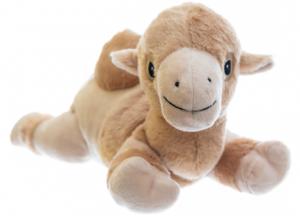 Värmenalle Kamelen Kaj (tvättbar) från Habibi Plush (micronalle) säljs på Nalleriet.se
