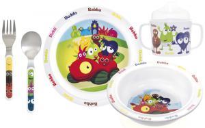 Babblarna Melaminset, 5-delar från Teddykompaniet säljs på Nalleriet.se