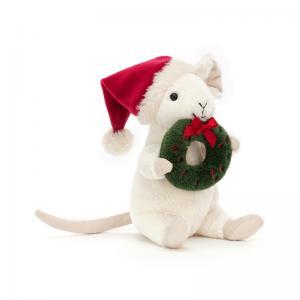 Merry Mouse med julkrans från Jellycat