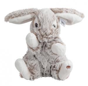 Kanin Lucy, grå/brun, 16cm, Mörk brun - Molli Toys | Nalleriet.se