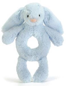 Bashful Bunny Skallra, blå från Jellycat