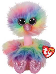 Beanie Boos Asha (Struts i regnbågsfärg) TY Gosedjur | Nalleriet.se
