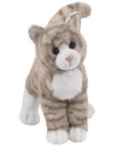 Gråtabby huskatt, 25cm från Douglas Mjukisdjur säljs på Nalleriet.se