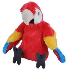 Papegoja, röd, 30cm från Wild Republic