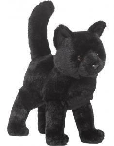 Svart huskatt, 25cm från Douglas Mjukisdjur säljs på Nalleriet.se