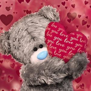 3D-Kort (Kärlek), Nalle med hjärta - Me To You