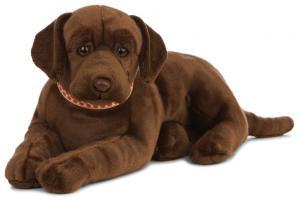 Labrador, brun (Stort Mjukisdjur) - Keycraft Living Nature