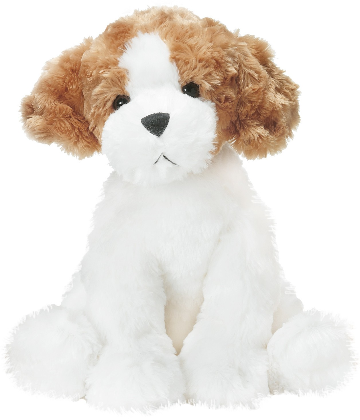 Teddy Hund, vit/brun/svart - Teddykompaniet
