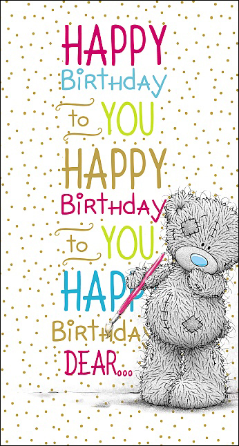 Kort, Happy Birthday to you - Me To You