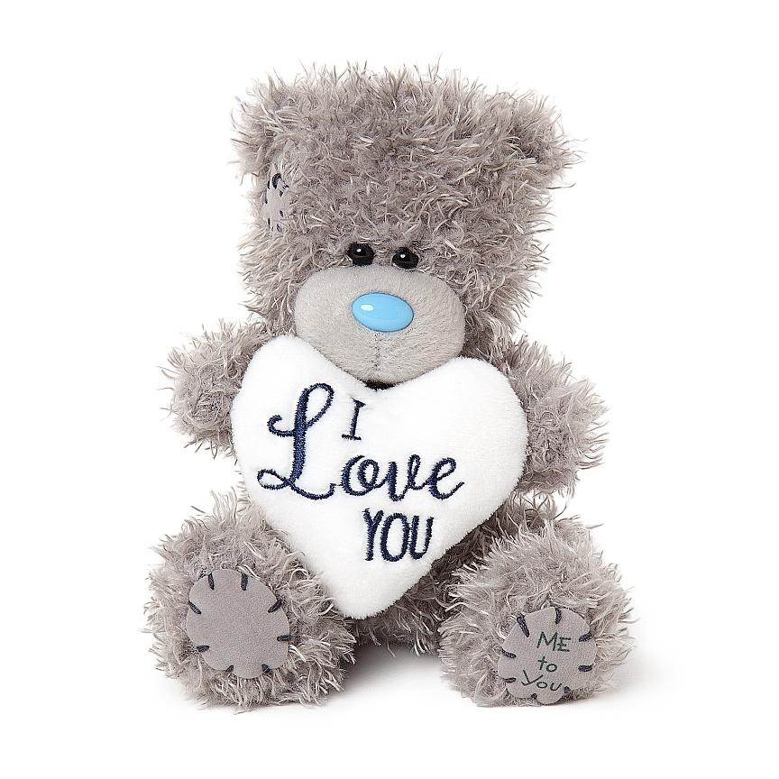 """Nalle """"""""I Love You"""""""" på vitt hjärta, 13cm - Me to you (Miranda nalle)"""