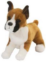 Boxer, (kuperade öron), från Douglas Mjukisdjur säljs på Nalleriet.se