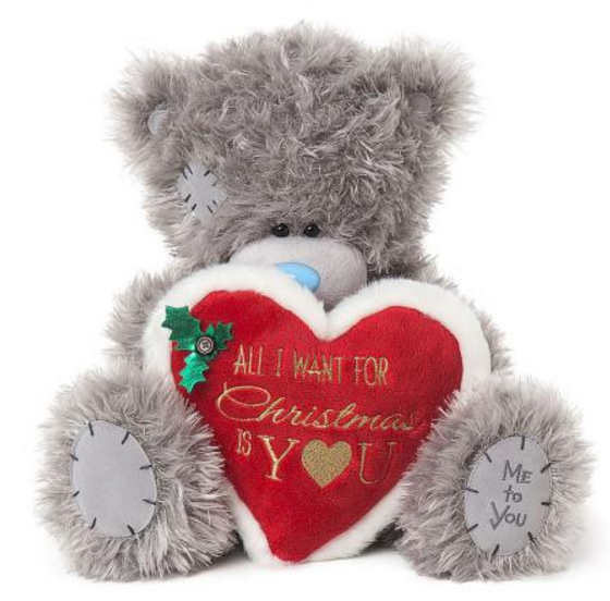"Nalle med hjärta """"All I want for christmas..."""", 30cm - Me To You"