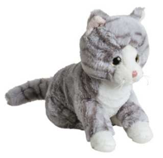 Mollis Gråspräcklig Katt, 20 cm - Molli Toys