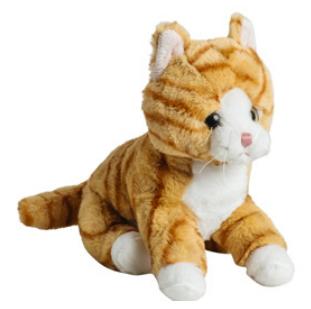 Mollis Rödspräcklig Katt, 20 cm - Molli Toys