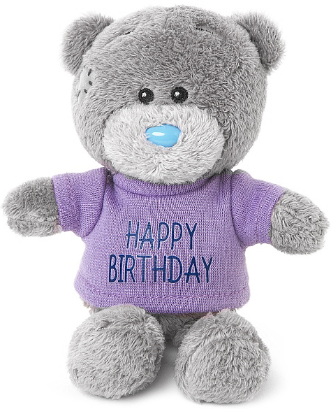Nalle Happy Birthday, 10cm - Me to you