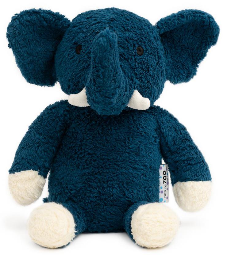 Ekologisk Elefant XL (blå), 30cm - NatureZoo