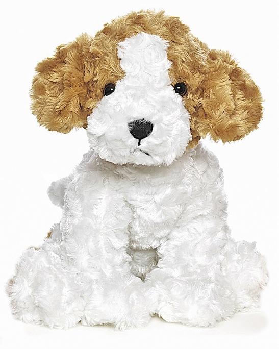 Teddy Hund, vit/brun/svart