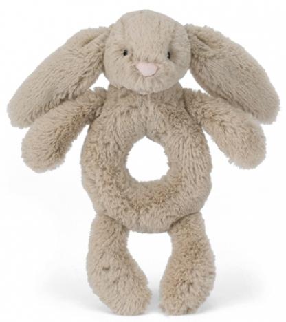 Bashful Kanin skallra, beige - Jellycat