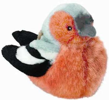Bofink med fågelläte, 14cm - Wild Republic