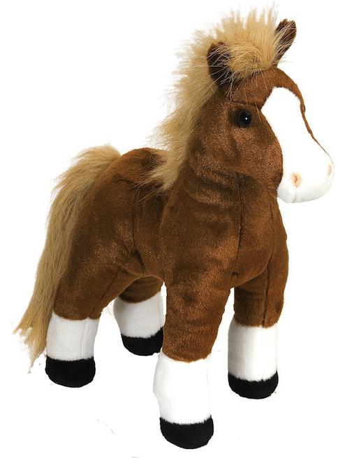 Häst, brun, 30cm - Wild Republic