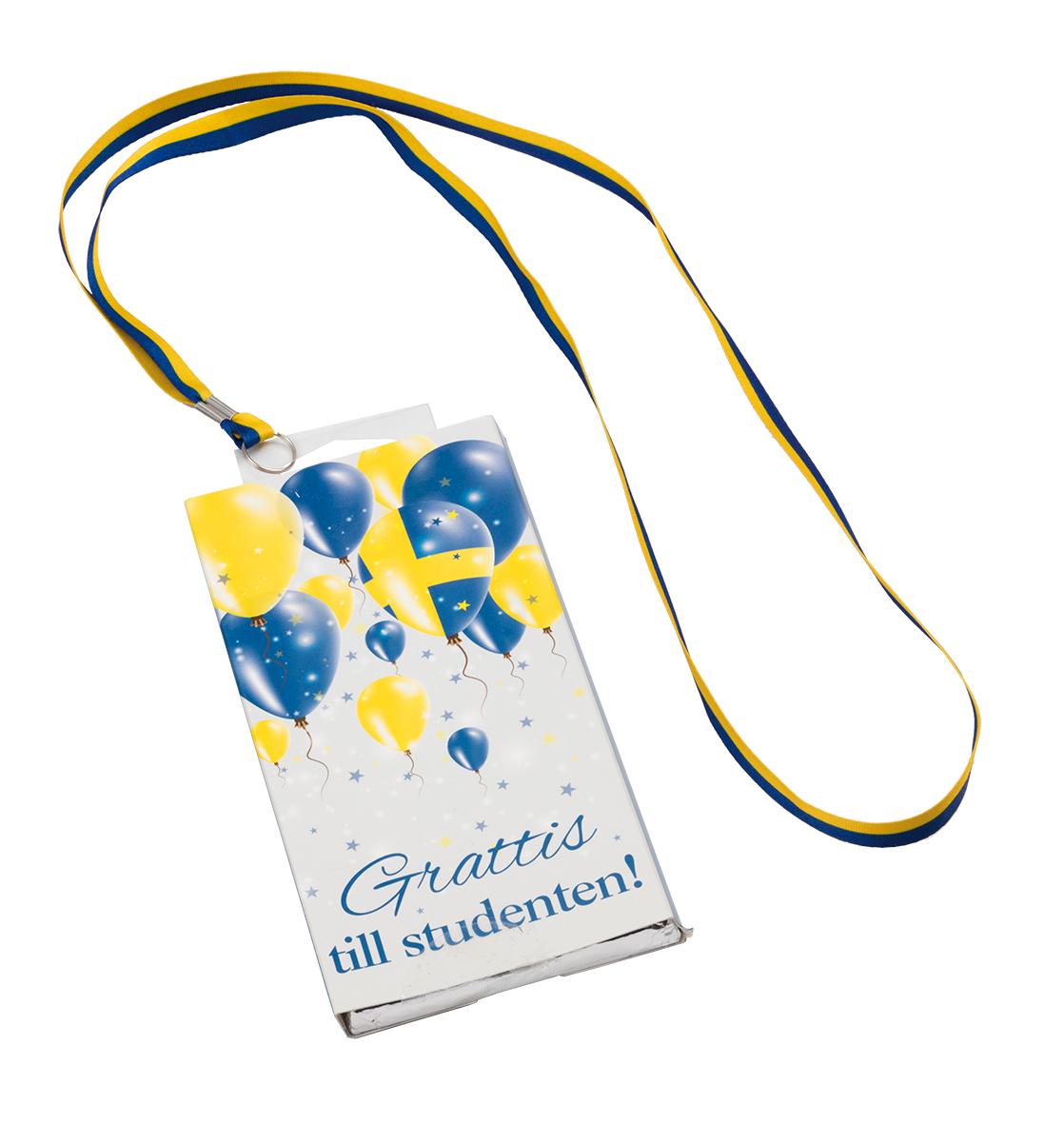 Choklad Grattis till studenten (med band)
