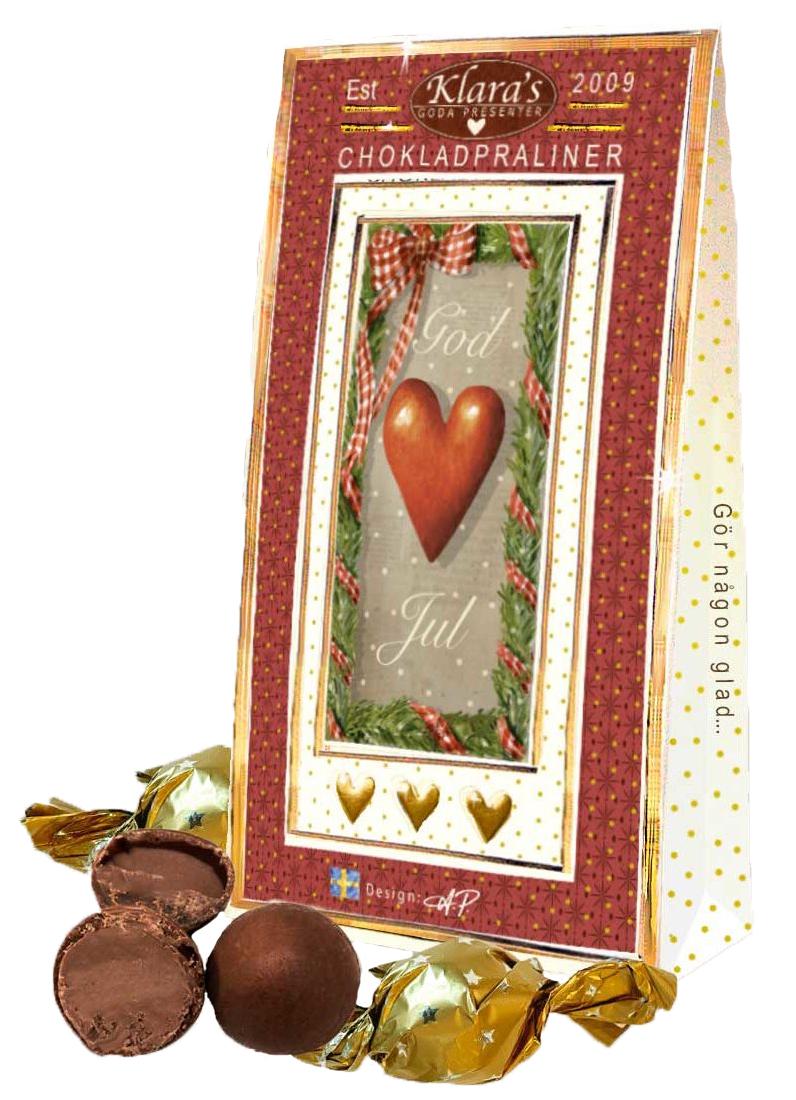 God Jul chokladpraliner, Hjärtanmotiv