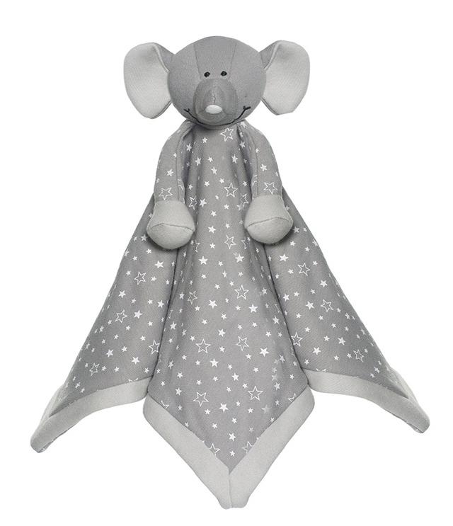 Diinglisar Organic Snuttefilt Elefant - Teddykompaniet