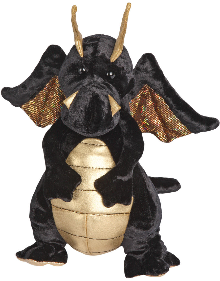 Draken Merlin, svart- Douglas Mjukisdjur