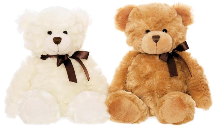 Nalle Harry, 30cm - Teddykompaniet (Vit päls)
