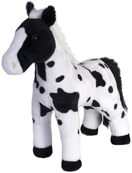 Häst, svart/vit, 30cm - Wild Republic