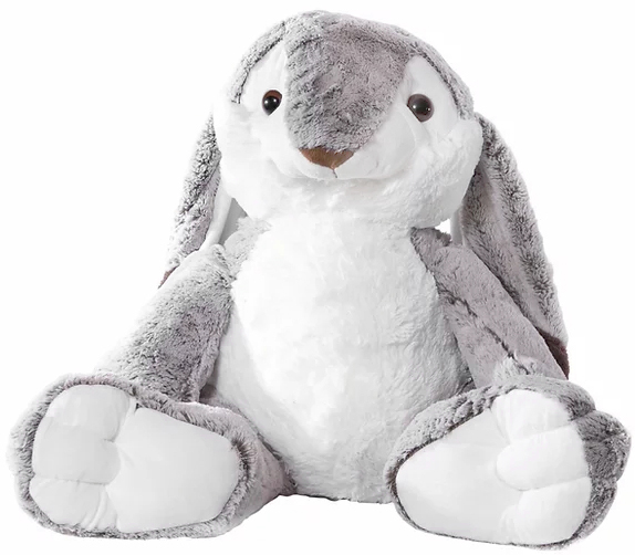 Kaninen Snurre, 80cm - Molli Toys