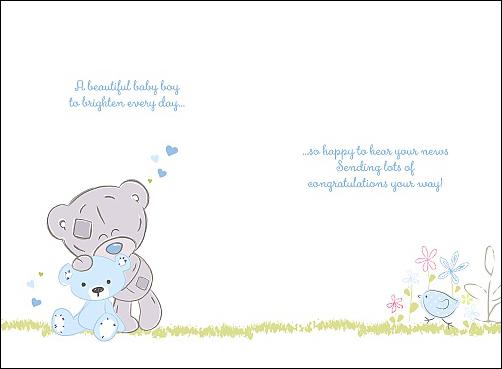 gratulationskort baby Kort, A Baby Boy   Me To You | Nalleriet.se gratulationskort baby
