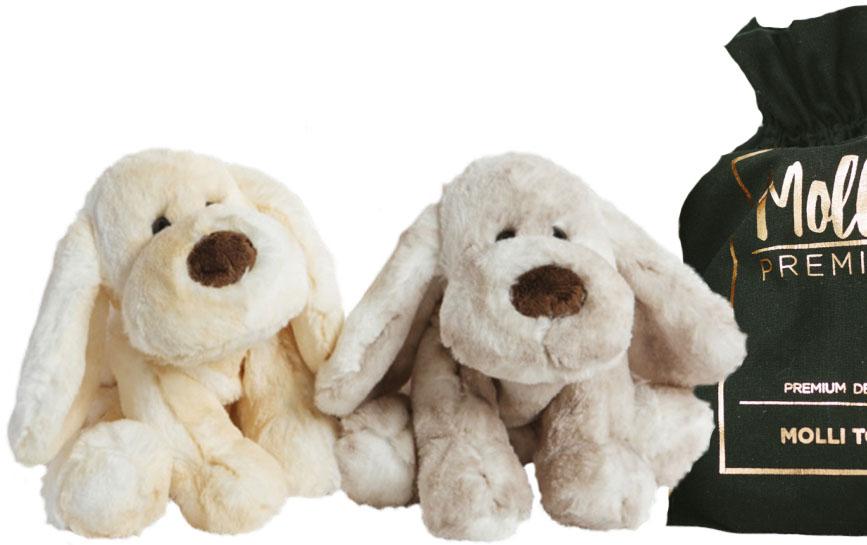 Premium Hund, 25cm - Molli Toys (Beige)