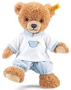 Nalle med blå pyjamas, sleep well, 25cm, Steiff nalle säljs på Nalleriet.se
