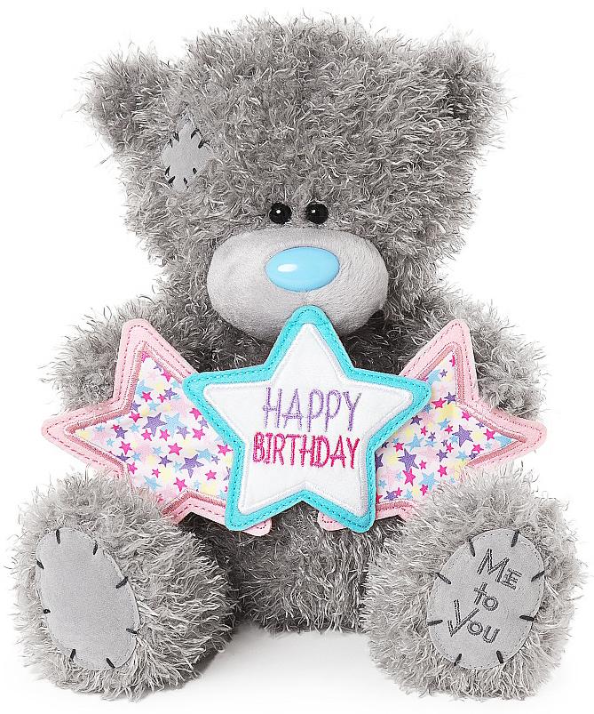 Nalle, Happy Birthday på stjärnbanner, 25cm - Me To You