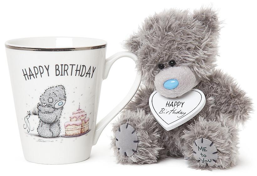 "Presentset Nalle + Mugg """"Happy Birthday"""", Me To You"