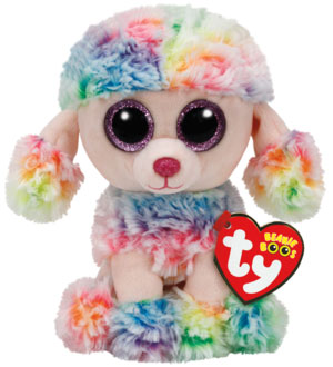 Beanie Boos Rainbow (Flerfärgad Pudel) - TY Gosedjur