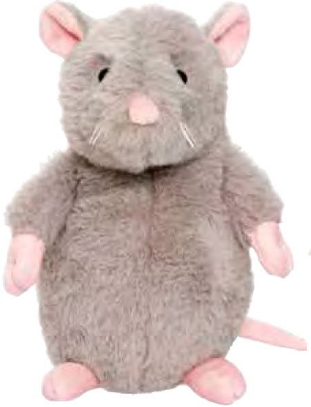 Dreamies Mus, Grå, 20cm - Teddykompaniet