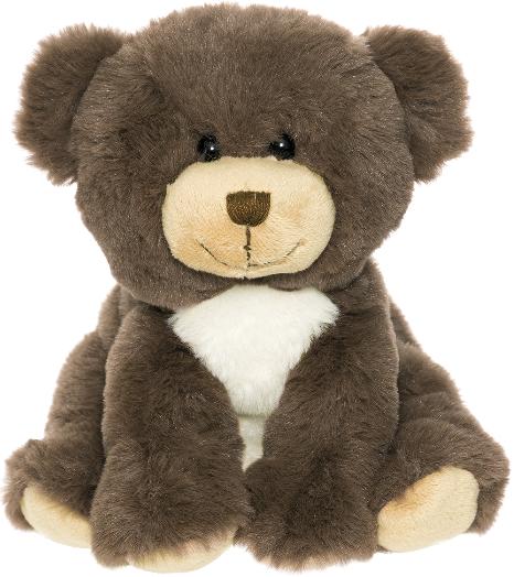 Dreamies Sittande nalle, 17cm, brun - Teddykompaniet
